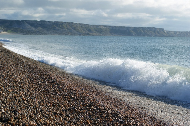 Chesil Beach - miles and miles of waves, pebbles and not much else