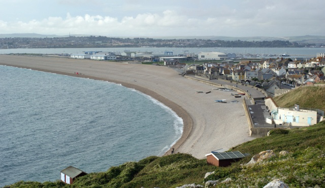 Chesil Cove, Portland, is the eastern end of the massive shingle beach