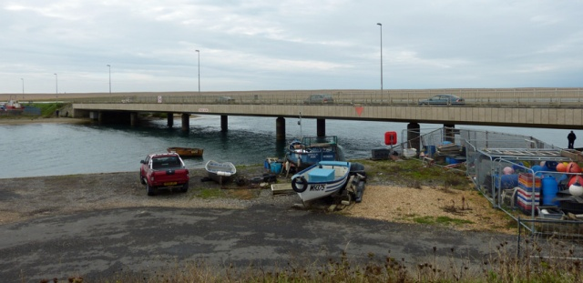 Today's rather dull crossing point at Ferry Bridge