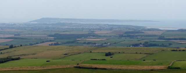 Weymouth and Portland from the Hardy Monument. How much better it will look on a sunny day!