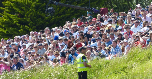 Olympic ticket holders were penned into the Nothe Gardens.