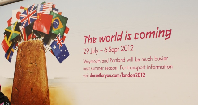 Excellent marketing of traffic jams. As a result, Weymouth's roads were very quiet in July 2012