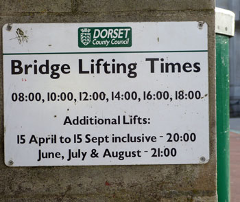 If you cross the bridge often, it's handy to know when it opens