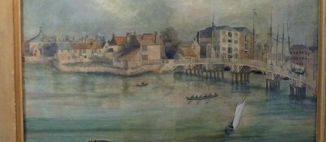 Town Bridge in around 1820. From a painting in Weymouth Museum