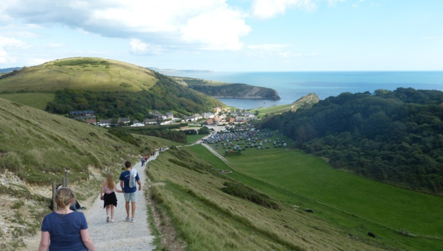 It's a bit of a walk from Durdle Door to Lulworth