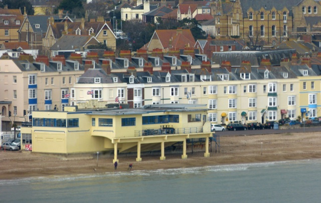 A Skyline view of Weymouth's pier bandstand - the seaward side was demolished in the 1980s