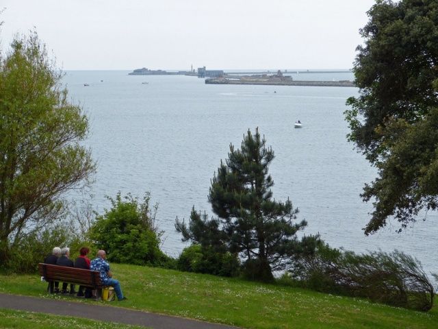 Just one of the many fine views from Nothe Gardens