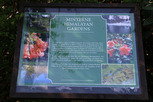 Minterne Gardens information board
