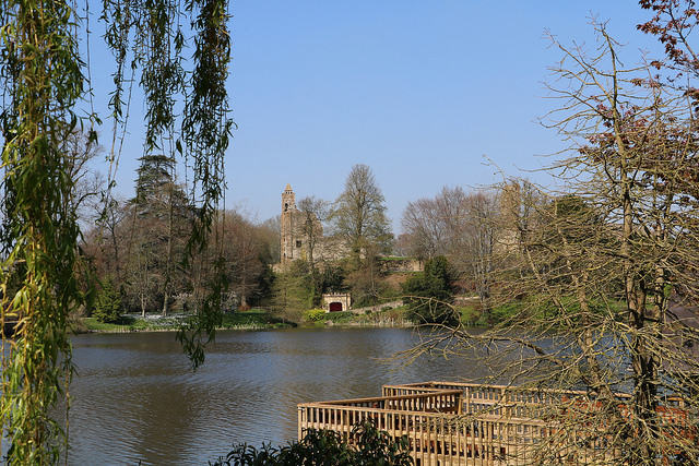 Sherborne old castle and lake
