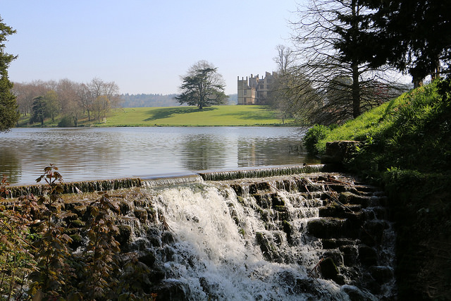 Sherborne Castle and cascade